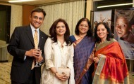 Raj Sharma, AIF Director with Saluni Fadia, Pratima Srinivasan & Nalini Sharma at the Annual New England Gala