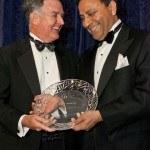 NY Gala 2012 Co-Chair Dinesh Paliwal hands award to Honoree John B. Veihmeyer