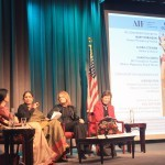 Lakshmi Puri, Shanta Sinha, Gloria Steinem, and Mary Robinson at AIF's 10th Anniversary Symposium on Gender Equality in NYC