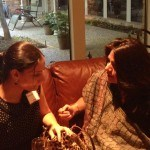 Program Partners Renuka and Shalini from National Association for the Blind at the Dallas evening gathering