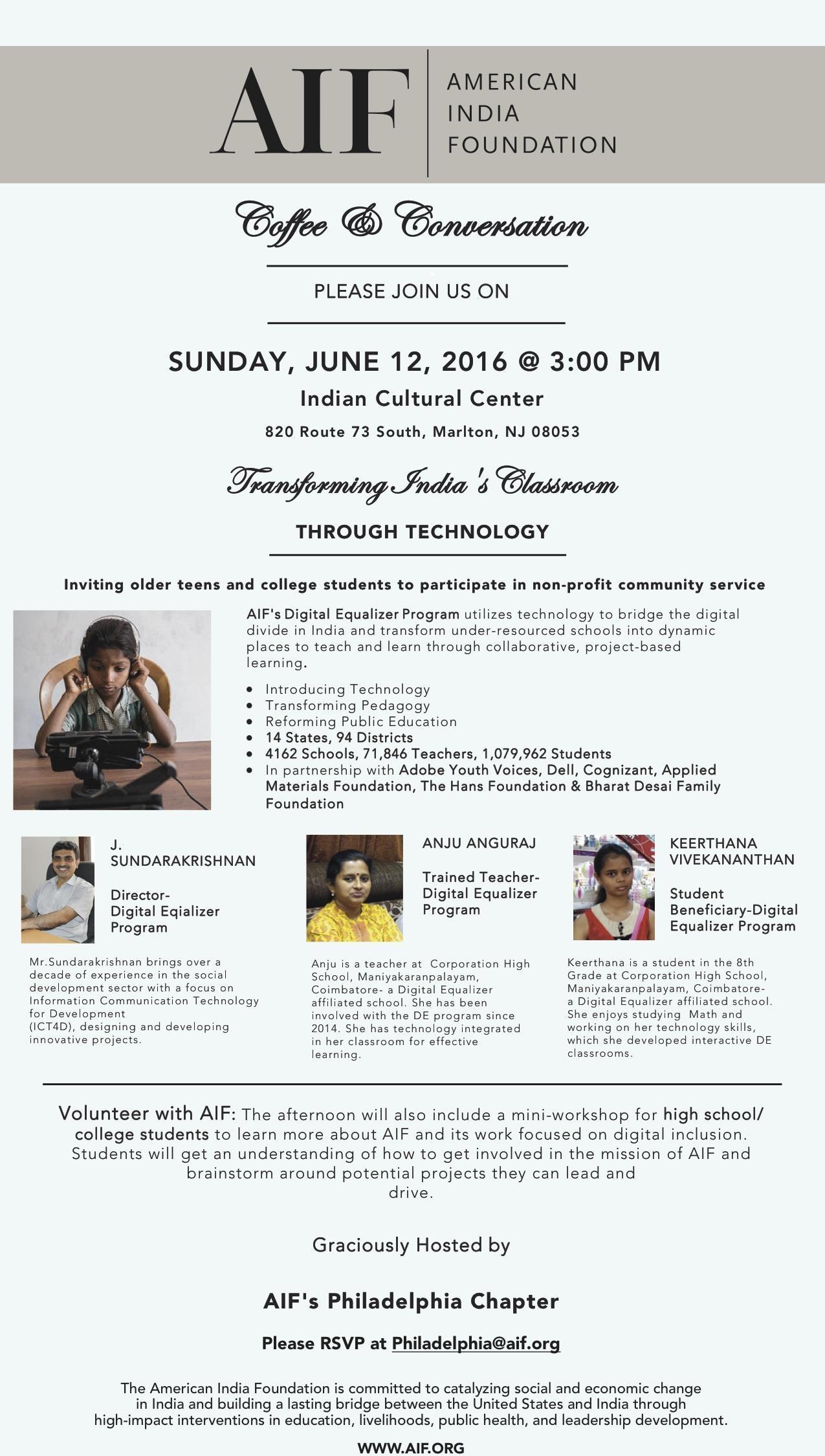 AIF Philadelphia DE Event