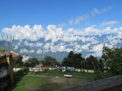 A view of the mountains from Darjeeling