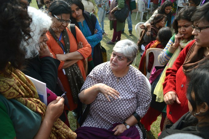 Feminists debate the future of the movement in India at the national Women's Studies Conference, Guwahati, Assam.