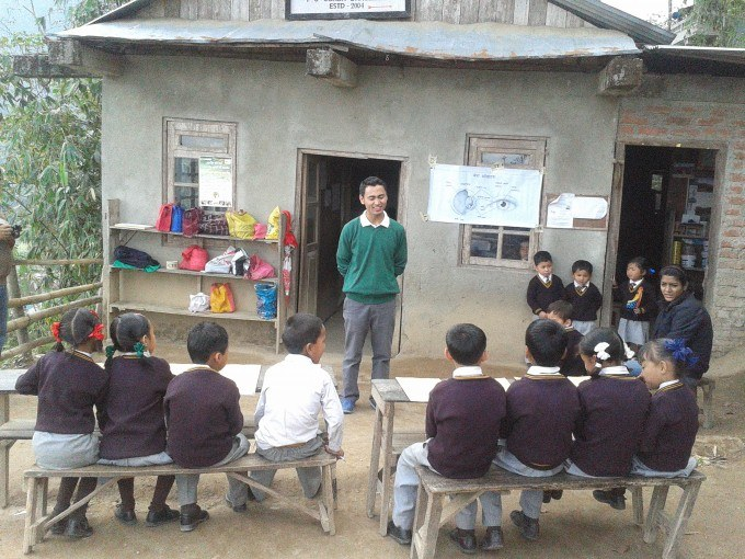 A lesson observation at Calvary school last year
