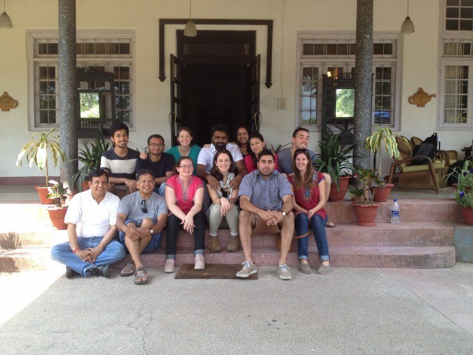 The obligatory picture of the visiting fellows on the porch at Ambootia