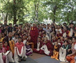 Dalai Lama with AIF Fellows (along with fellow Indians)