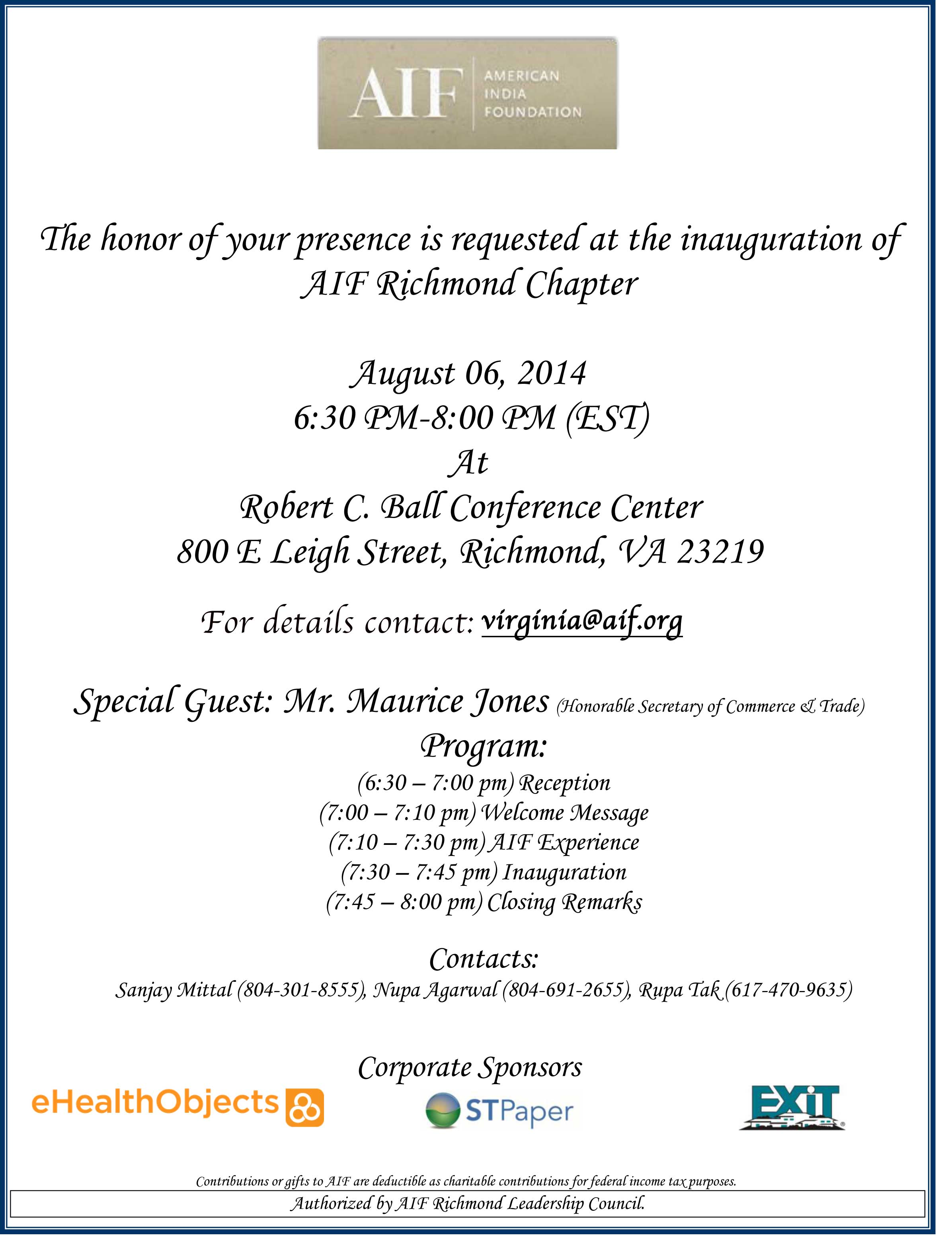 AIF-Inaguaration-Aug-06,2014
