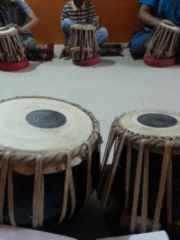 The view from my lap during tabla class