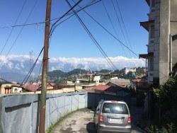 The mountaintops of Mt. Kamchenjunga overlooking Darjeeling.