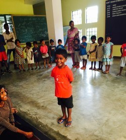 A Shanti Bhavan pre-schooler, introducing himself in English for the first time