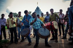 A fine drummer, an even finer purveyor of hugs. Nuapada, Odisha - September 2015