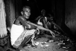 Preparing the feast for Nuakhai, a regional rice harvesting festival. Nuapada, Odisha - September 2015