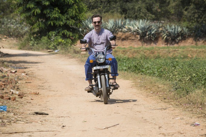 Riding my moped in Rishi Valley - photograph by Prashant Panjiar