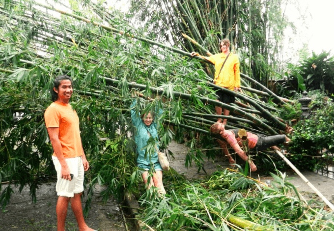 Venturing outside after hurricane Isaac in New Orleans, 2012.