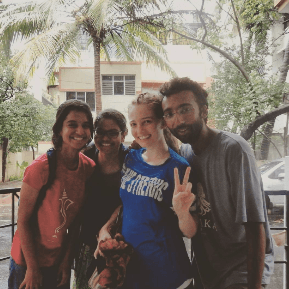 Venturing outside after cyclone Roanu in Chennai, 2016.