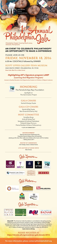 Philadelphia Gala Invite