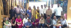 With Pratishtha Center trainers from Reaching Hand and other NGOs across South India at a Quest Alliance training