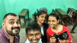 Posing with the talent! From L-R Ishan, Aniket, Sharifa, Me :)