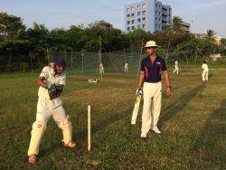 Amar behind the stumps!
