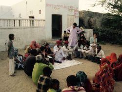 Focus Group Discussions with the harijan community outside the night school Photo credit: - Mark Thompson