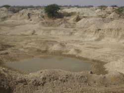 Picture 2- Lands surrounding Sant ki Dhani. These lands were agricultural lands some 30 years ago. This particular land is excavated to use the mud to build the saltpan boundaries