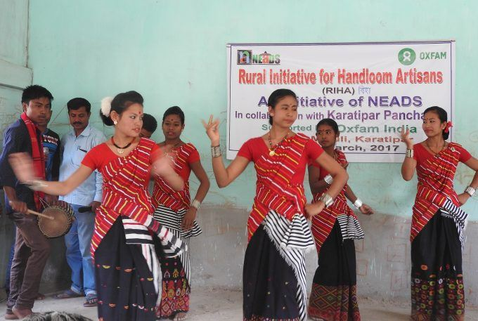 Another group from the village doing BIHU dance.