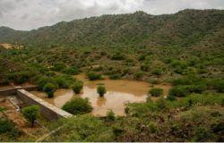Picture 2: - Gudda watershed structure-Monsoon 2014 Photo Credit: - Sanjay Mali