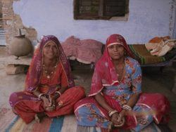 Picture 3: - Lali (left) and Radha (right) just back from collecting firewood from the forest
