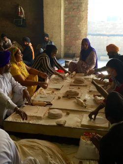 Making rotis at the Golden Temple, Amristar