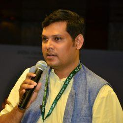 Picture 2: - Prasant Biswal, co-founder of Batti Ghar during a conference in 2016