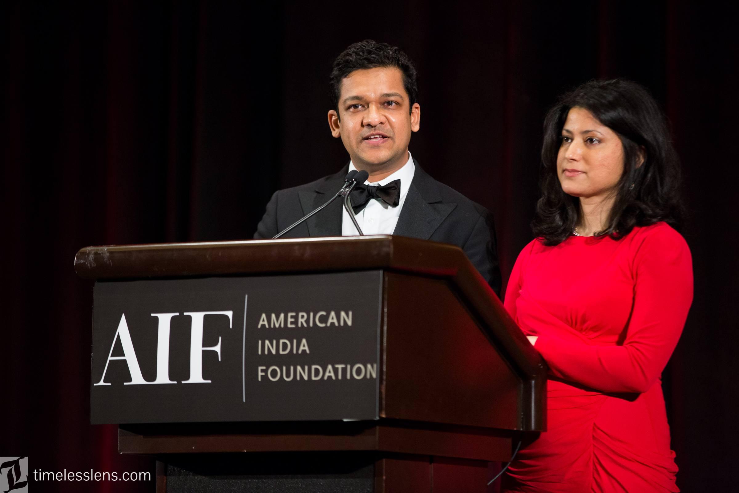Andy and Deepa Gupta speak at the 2017 Boston Gala