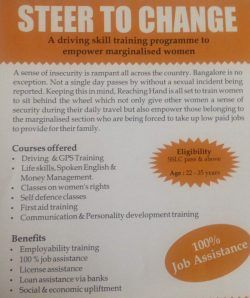 A flyer promoting Steer to Change