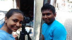 With teammate Aniket Jadhav