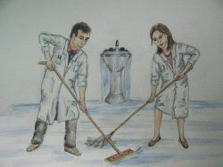 Shut off the tap before you start mopping the floor! (Used from medicine.uottawa.ca)