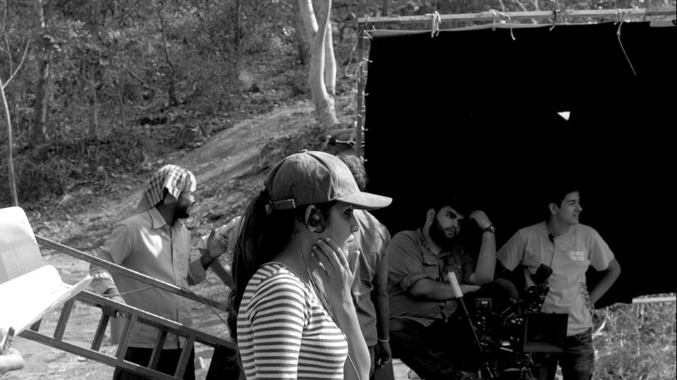 On the film set