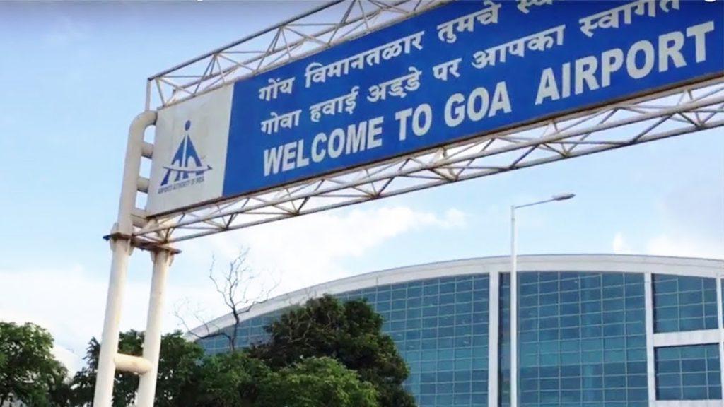 Goa Airport in Konkani, Hindi, and English