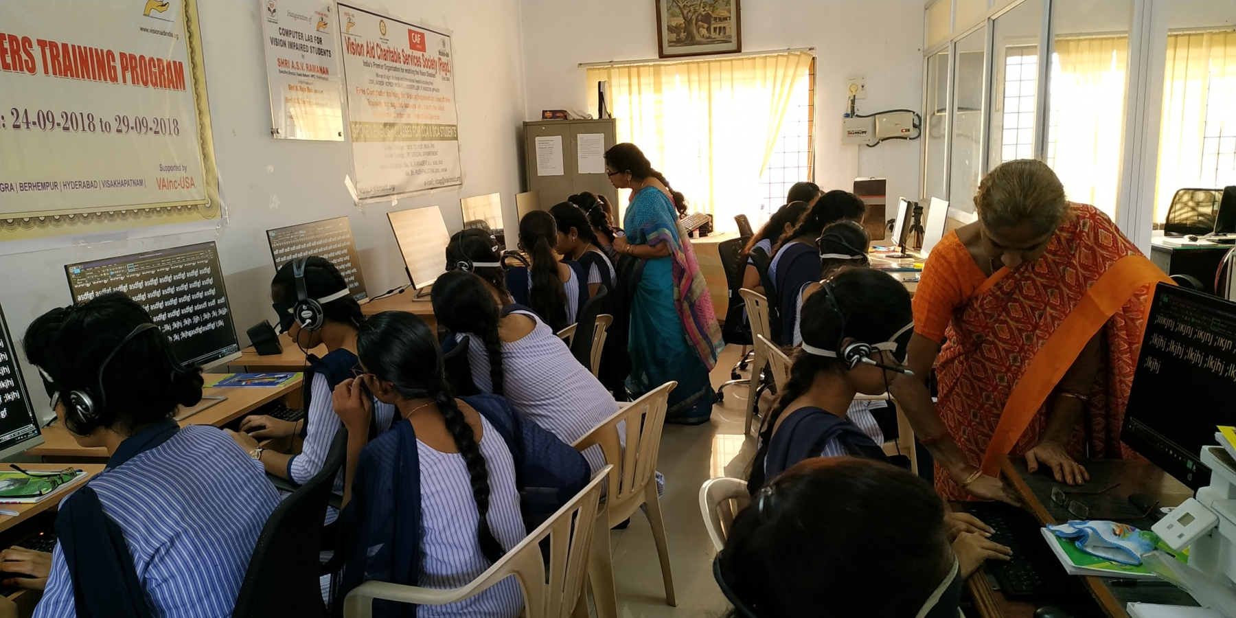 Training sighted prospective teachers on how to teach computer-use to the visually impaired at Vision Aid, Vizag