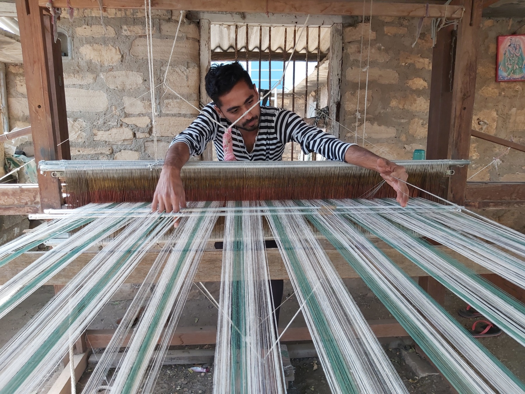 Kala cotton weaving