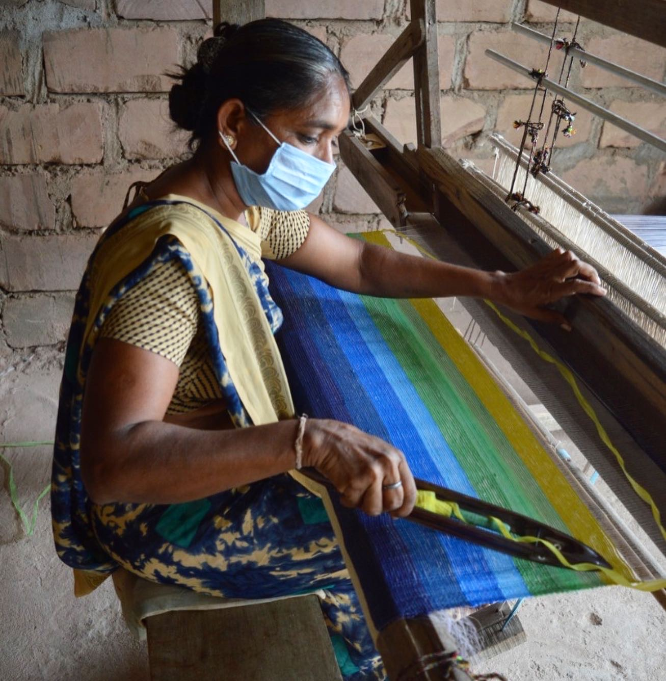 Upcycled Plastic Weaving