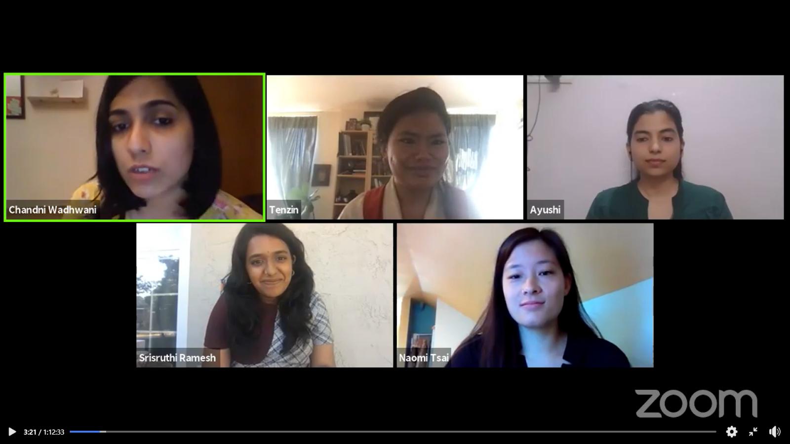 A screenshot of Panelists on Day 2 beginning their conversation.