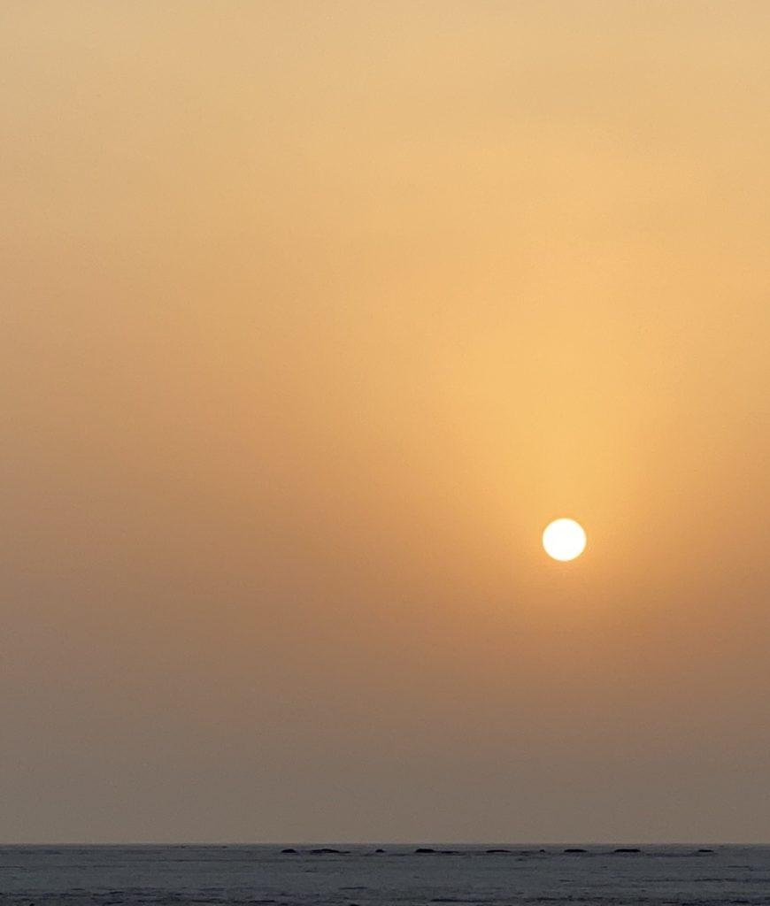 A beautiful sunrise at the Rann of Kachchh