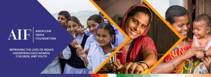 American India Foundation banner: Improving the Lives of India's Underprivileged Women, Children, and Youth.