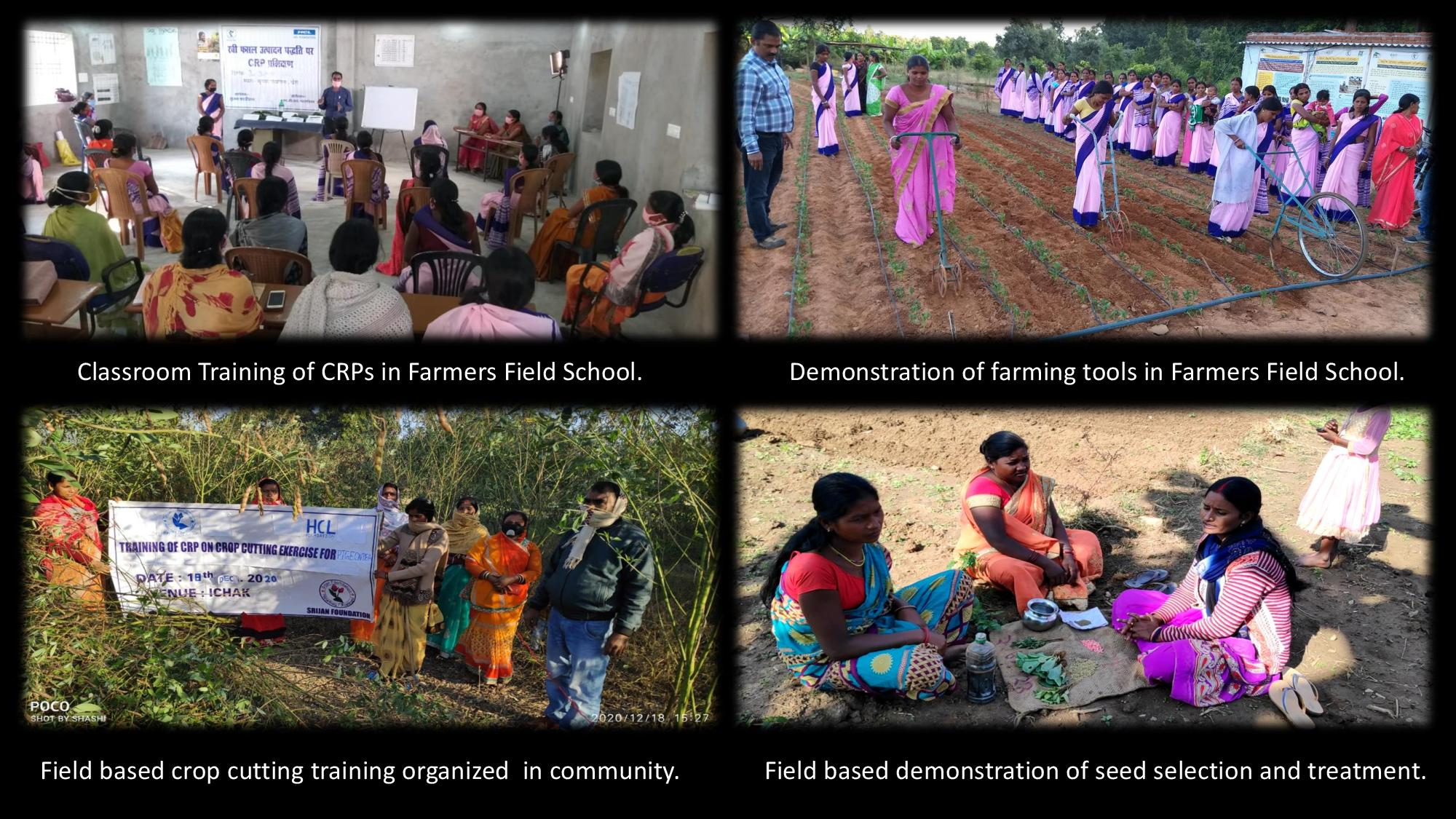 Women Farmers supported through various classroom trainings, practical field demonstrations, field trainings and hand-holding support.