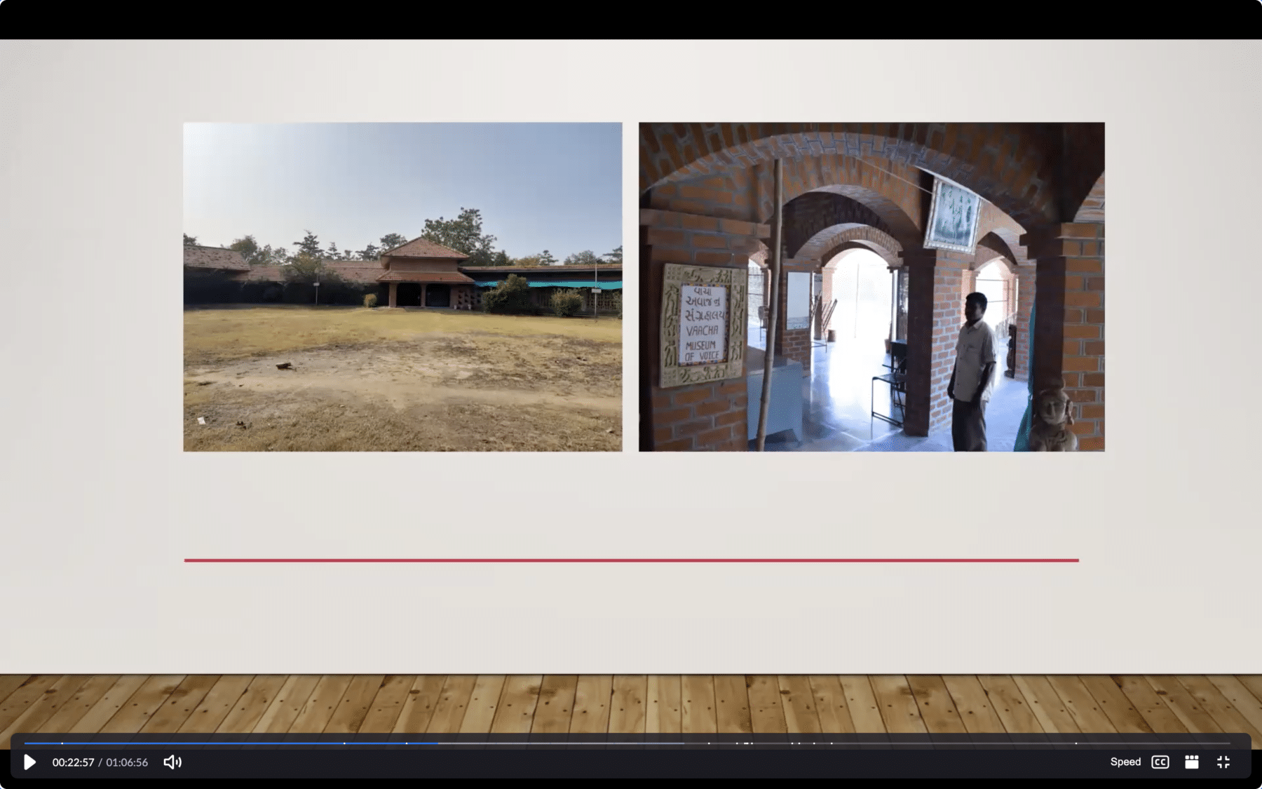 A Screen Shot from Sneharshi's presentation