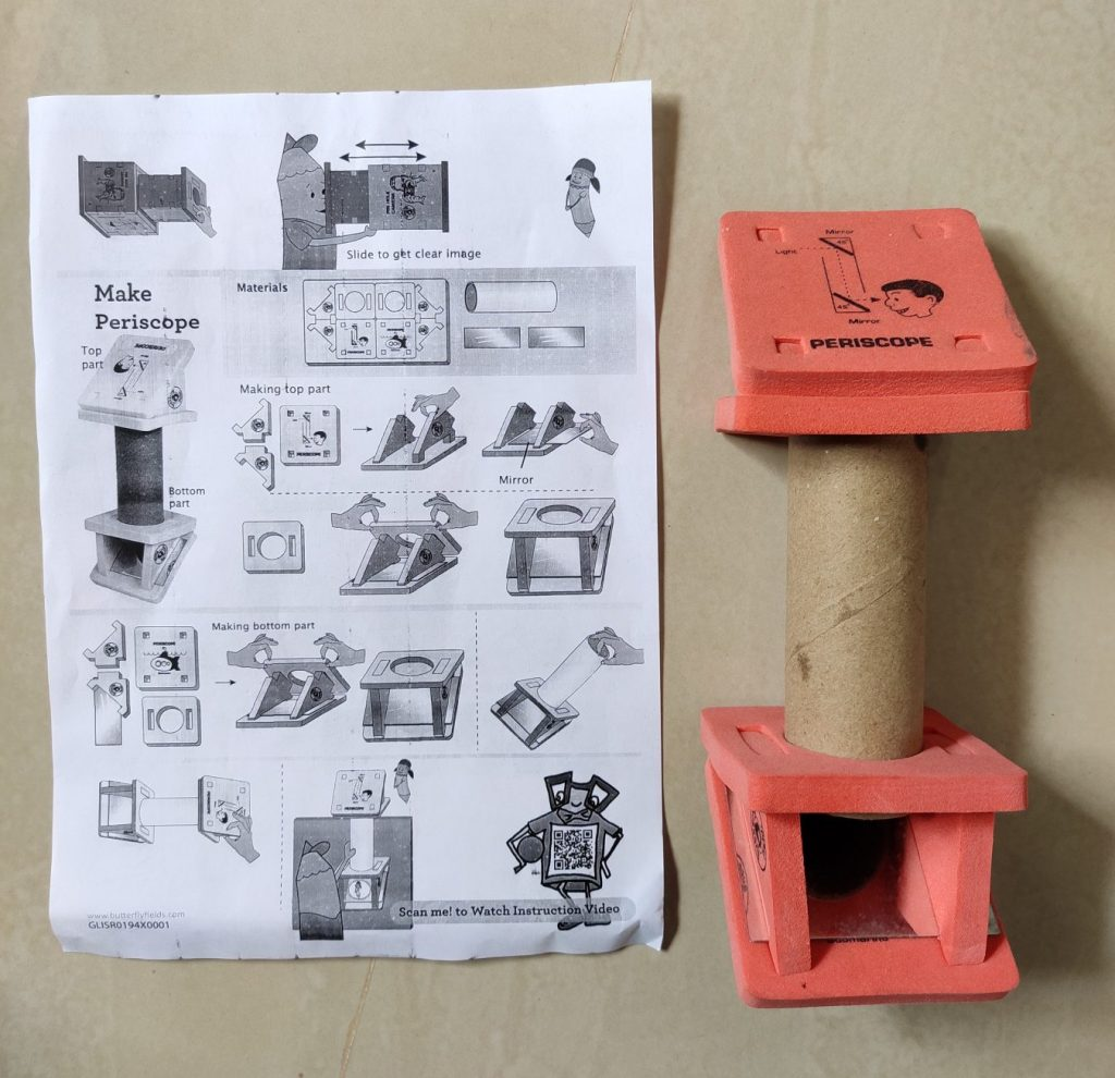 Periscope model and instructions to make.