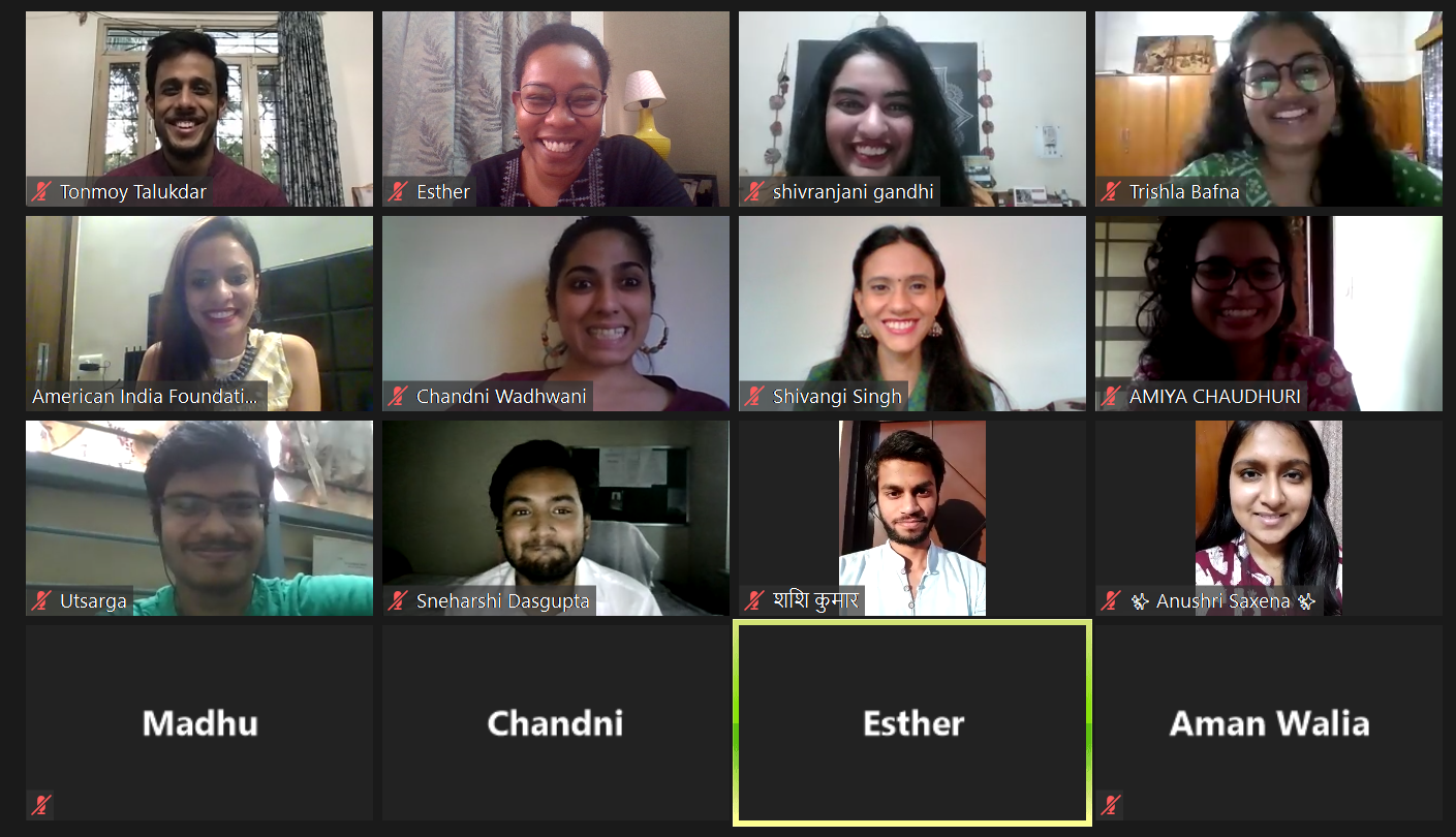 A screenshot of the cohort from the fellowship Orientation.