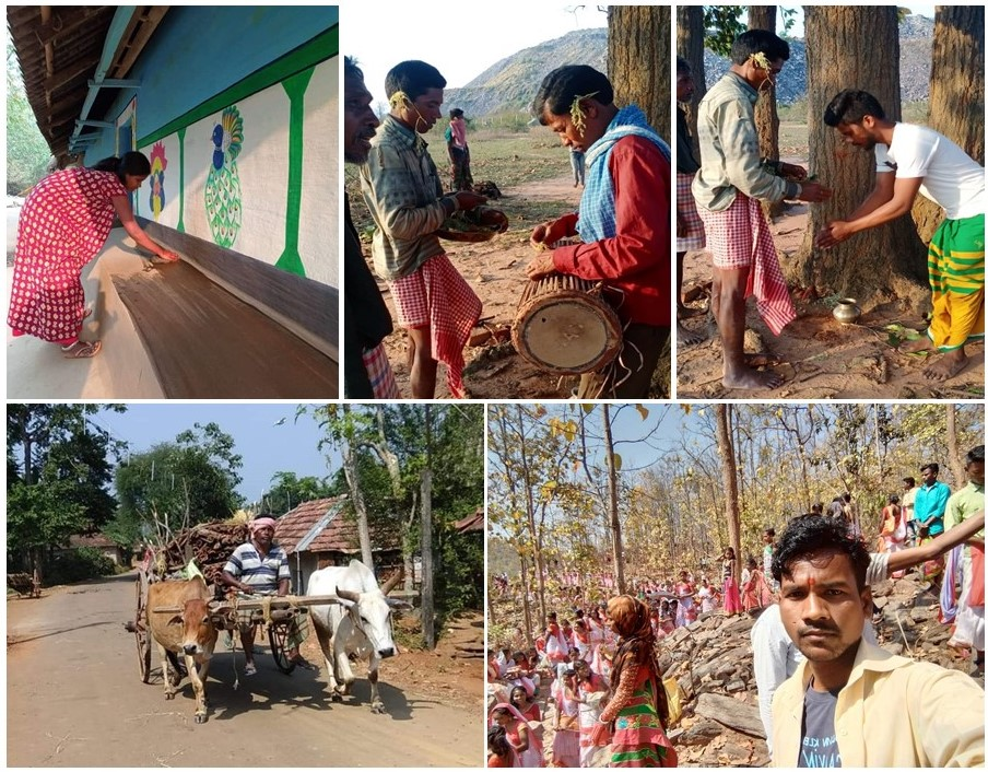 Some snaps from the celebration of Sohrai Parv by tribal communities.