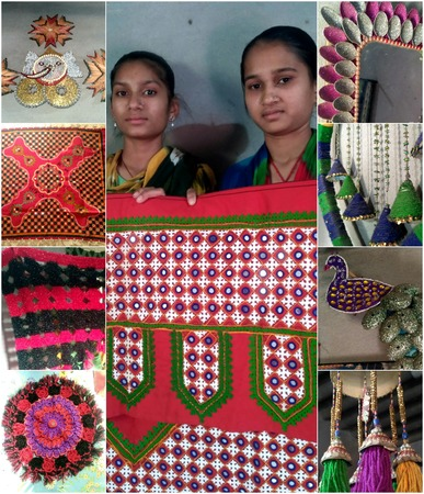 Hand embroidery designs & artwork made of recycled materials