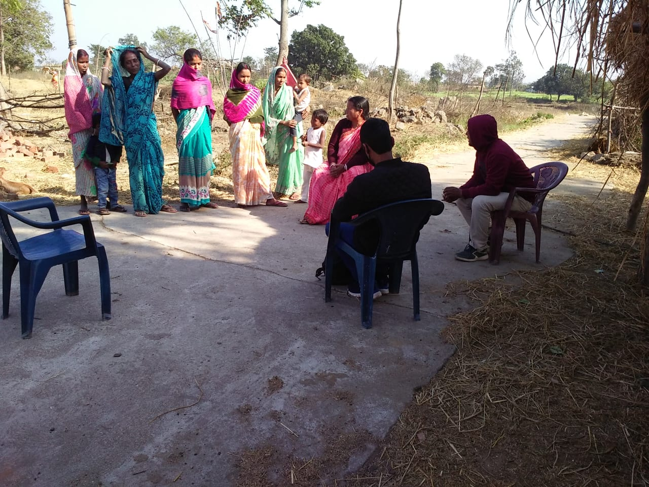 A Focused Group Discussion organised with few women farmers in a village of Kujju in Ramgarh.